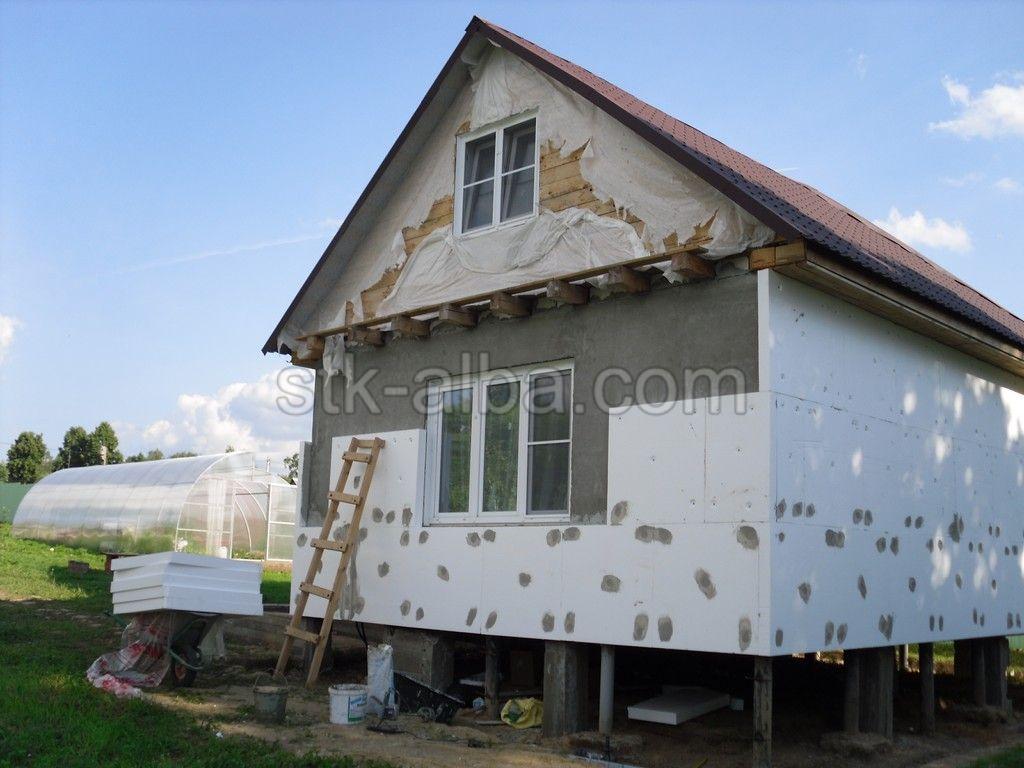 Отделка фасада дома цена работы